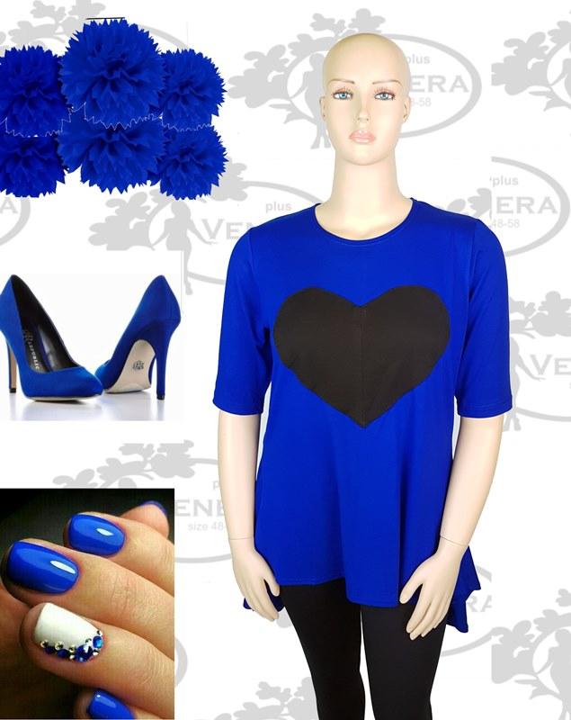 колаж турско синя със сърце
